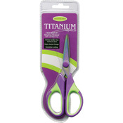 Purple/Green - Titanium Sewing Scissors 5.5""