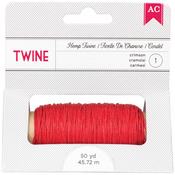 Crimson - Hemp Twine 50yd Spool