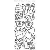 Black - Summer Peel-Off Stickers