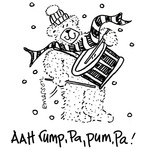 Aah Rump, Pa, Pum, Pa! - Gourmet Rubber Stamps Cling Stamps