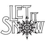 Let It Snow - Gourmet Rubber Stamps Cling Stamps