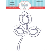 Roses - Gourmet Rubber Stamps Petite Stencils