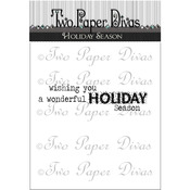 """Holiday Season - Two Paper Divas Clear Stamps 7""""X4.5"""""""