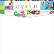 """Snow White - Oly Fun Multipurpose Craft Material 12""""X12"""" 3/Pkg"""