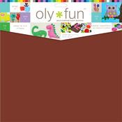 "Hot Fudge - Oly Fun Multipurpose Craft Material 12""X12"" 3/Pkg"