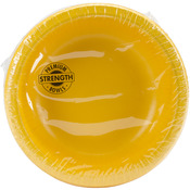 School Bus Yellow - Paper Bowl 20oz 20/Pkg