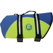 Blue & Yellow - Paws Aboard Neoprene Doggy Life Jacket Large