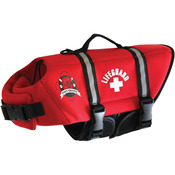 Paws Aboard Neoprene Doggy Life Jacket Medium - Red