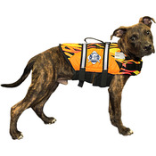 Paws Aboard Doggy Life Jacket Large - Racing Flames