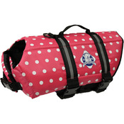 Paws Aboard Doggy Life Jacket Medium - Pink Polka Dot