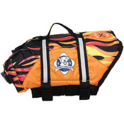 Paws Aboard Doggy Life Jacket Small - Racing Flames