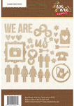We Are Family Wood Veneer Shapes - Simple Stories