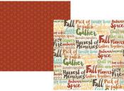 Harvest Memories Paper - Pumpkin Spice - Simple Stories