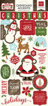 The Story Of Christmas Chipboard Elements - Echo Park