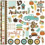 Pumpkin Spice Fundamentals Sticker Sheet - Simple Stories