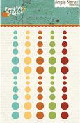 Pumpkin Spice Enamel Dots Embellishments - Simple Stories