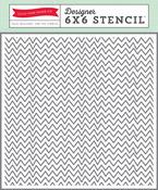 Zigzag Stencil - Echo Park