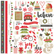 Fundamentals Claus & Co Cardstock Stickers - Simple Stories