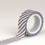 Navy Stripe Decorative Washi Tape - Hello Winter - Echo Park