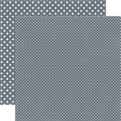 Charcoal Paper - Dots & Stripes Winter - Echo Park