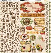 Enchanted Harvest Combo Sticker Sheet - Bo Bunny