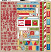 Dear Santa Combo Sticker Sheet - Bo Bunny