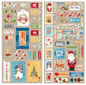 Dear Santa Chipboard Stickers - Bo Bunny