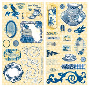 Genevieve Chipboard Stickers - Bo Bunny