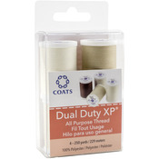 Dark Brown, Natural, Pearl & Tan 4/Pkg - Dual Duty XP All Purpose Thread 250yd Spools