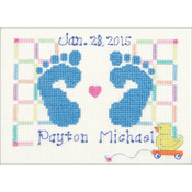 "7""X5"" 14 Count - Baby Feet Counted Cross Stitch Kit"