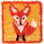 """Little Fox - Wonderart Latch Hook Kit 12""""X12"""""""