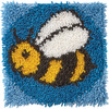 "Bumblebee - Wonderart Latch Hook Kit 12""X12"""