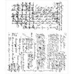 """Ledger Script - Tim Holtz Cling Rubber Stamp Set 7""""X8.5"""""""
