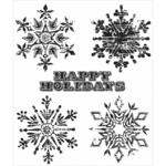 """Weathered Winter - Tim Holtz Cling Rubber Stamp Set 7""""X8.5"""""""