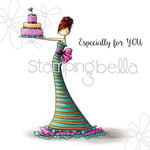 "Brittany The Birthday Girl - Stamping Bella Cling Rubber Stamp 6.5""X4.5"""