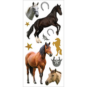 "Horses - Paper House Puffy Stickers 3""X6.35"""