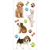 """Puppies - Paper House Puffy Stickers 3""""X6.35"""""""
