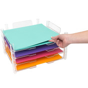 "Clear Stackable Acrylic Paper Trays 12""X12"" 4/Pkg"
