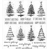 Scribbly Christmas Cling Rubber Stamp Set - Tim Holtz