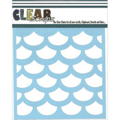 "Fish Scales - Clear Scraps Stencils 12""X12"""