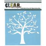 "Family Tree - Clear Scraps Stencils 12""X12"""