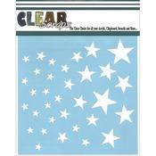 """Stars - Clear Scraps Stencils 12""""X12"""""""