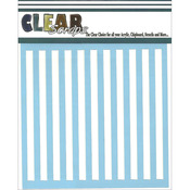 "Stripes - Clear Scraps Stencils 12""X12"""