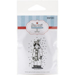 """Snowman W/Bird - Gourmet Rubber Stamps Cling Stamps 2.75""""X4.75"""""""