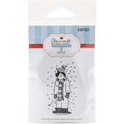 "Snowman W/Bird - Gourmet Rubber Stamps Cling Stamps 2.75""X4.75"""