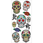 "Sugar Skulls - Paper House Puffy Stickers 3""X6.35"""