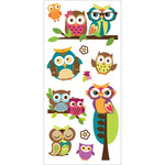 "Owls - Paper House Puffy Stickers 3""X6.35"""