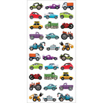 "Mini Mixed Cars - Paper House Puffy Stickers 3""X6.35"""