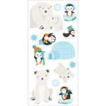 "Polar Animals - Paper House Puffy Stickers 3""X6.35"""