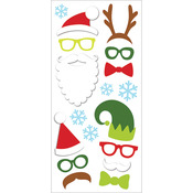 "Christmas Costumes - Paper House Puffy Stickers 3""X6.35"""